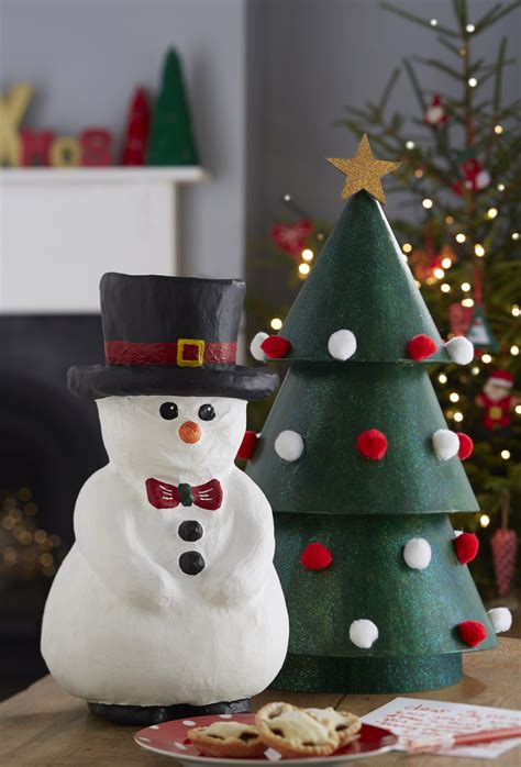 How To Make A Paper Snowman - how to make a paper mache snowman hobbycraft
