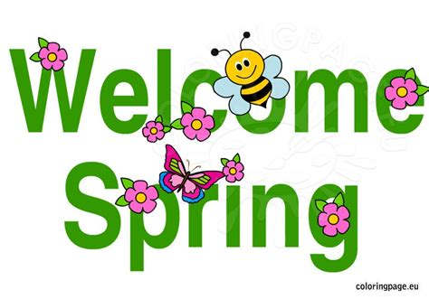 Welcome Spring Clip Art 13