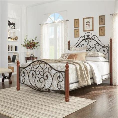 queen wrought iron bed wrought iron queen size scrolled bed in black and brown