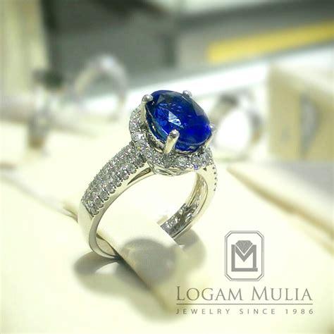 Blue Sapphire Rasa Srilangka Batu Cincin Liontin Kalung 005 jual cincin berlian wanita dg blue sapphire arw rkr603113 logammuliajewelry
