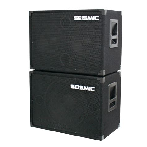 2x10 guitar speaker cabinet seismic audio new 1x15 2x10 bass guitar speaker cabinet