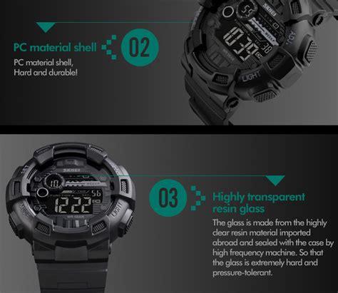 Jam Tangan Digital Skmei Dg1243 skmei jam tangan digital pria dg1243 black