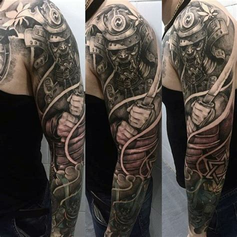 samurai sleeve tattoo 100 japanese samurai mask designs for
