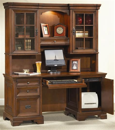 executive desk and hutch set aspenhome richmond 66 inch credenza desk and hutch