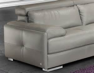 gary italian leather modern sectional sofa