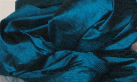 How To Sew Vinyl Upholstery Peacock Teal Blue 100 Dupioni Silk Fabric Yardage By The