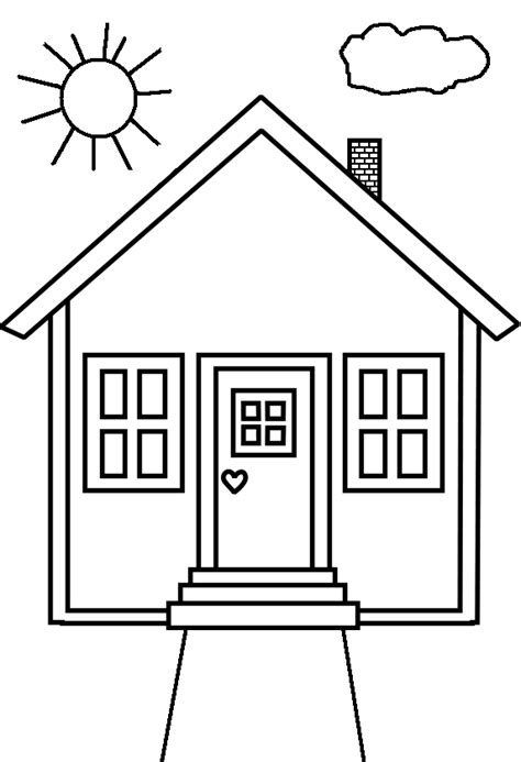 house colouring house coloring pages