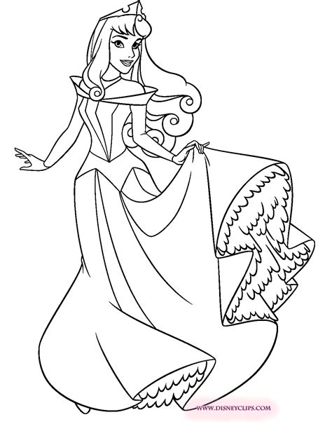 sleeping beauty printable coloring pages 2 disney