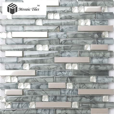 glass wall tiles backsplash tst glass mental tile glass tile grey stainless