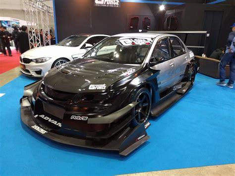 tokyo auto salon part 1 wide body 2015 miata prius race car super aggressive evo vlog 23