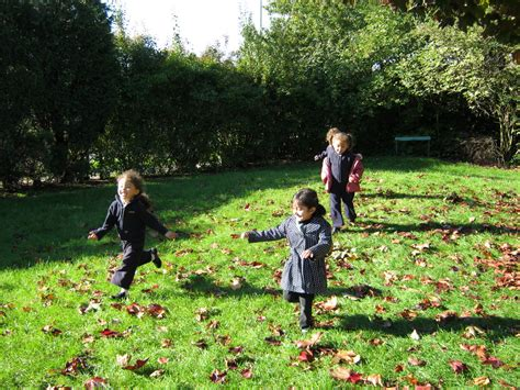 manford primary nursery playing outside