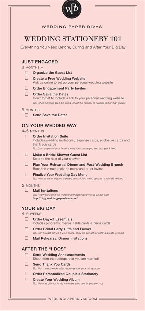 stationery checklist for a wedding wedding stationery checklist