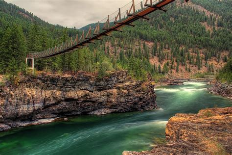 kootenai falls swinging bridge kootenai river swinging bridge 1 by robert hosea