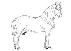 Friesian Horse Lineart By Mimi McG On DeviantArt sketch template