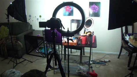 circle light for filming vlog my filming lighting setup for my