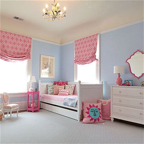 blue girls bedroom girl rooms featuring blue walls design dazzle