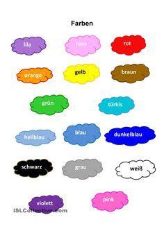 Sticker Englisch Plural by Die Farben Deutsch Lernen Pinterest
