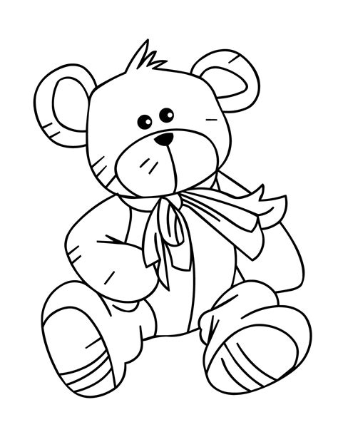 Free Printable Teddy Bear Coloring Pages Technosamrat Teddy Coloring Pages