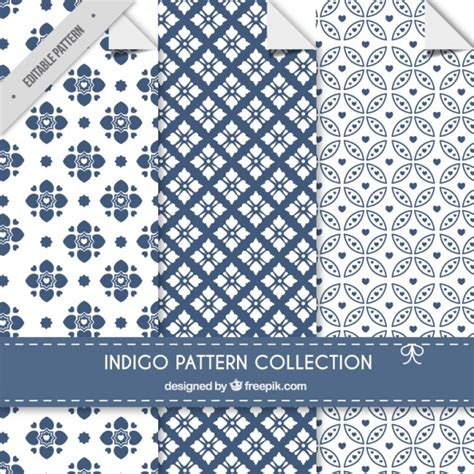 pattern collection download indigo patterns collection vector free download