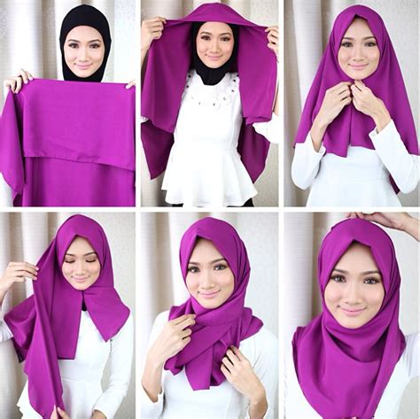 tutorial hijab pashmina simple ke kantor kumpulan tutorial hijab terbaru untuk ke kantor