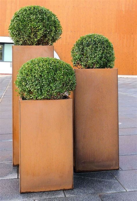 corten steel planter corten steel trough planters from potstore co uk