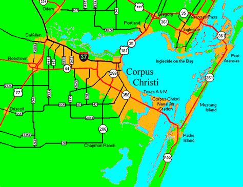 corpus christi on texas map escape to corpus christi texas