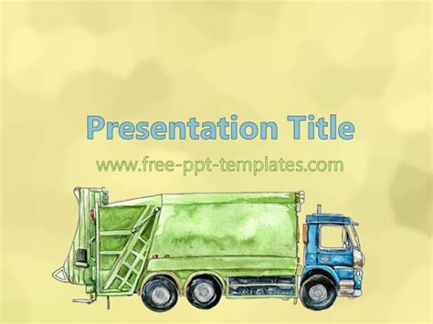 powerpoint templates free waste waste management ppt template