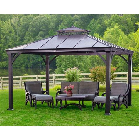 Hardtop Patio Gazebo Metal Gazebos 5 Home Depot Hardtop Gazebo Bloggerluv