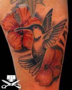 hibiscus and hummingbird tattoo hautedraws