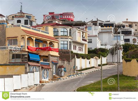 street view of houses street view with traditional houses tangier morocco stock photo image 41860007