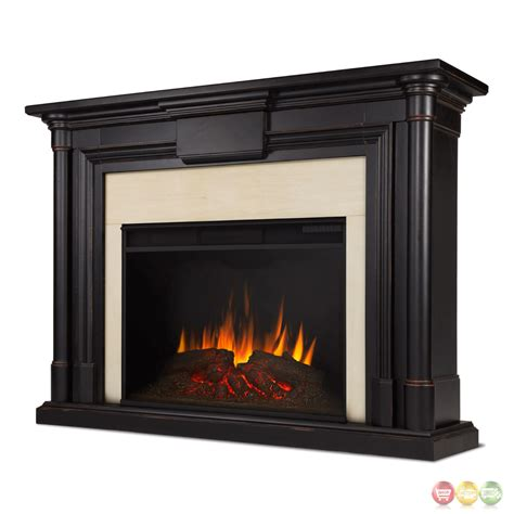 Electric Black Fireplace by Maxwell Grand Led Electric Fireplace In Black