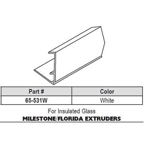 Florida Extruders Snap In Vinyl Glazing Bead 65 531w