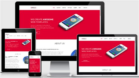 unique free responsive html5 template webthemez