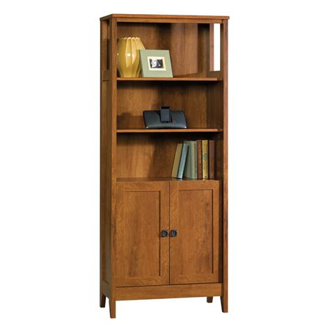 Shop Sauder August Hill Oiled Oak 71 875 In 5 Shelf Sauder Bookcase