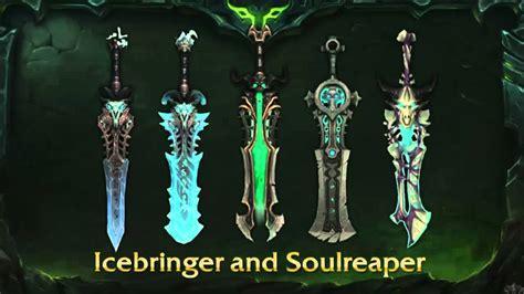 legion artifact weapon skins fury wow legion all artifact weapons