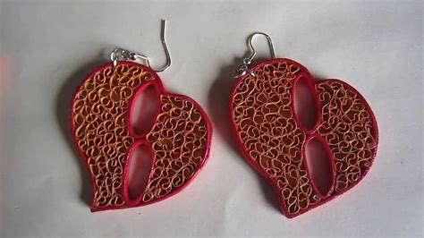 Paper Earrings Handmade Paper Jewellery - handmade jewelry free form quilling paper earrings not