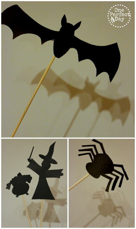 halloween shadow puppets and free printable template