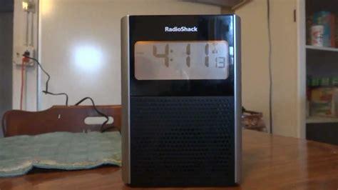 product review radioshack projection clock radio 12 591