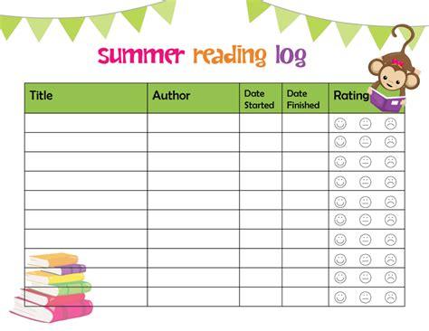 summer reading log template ultimate summer reading list for printable summer