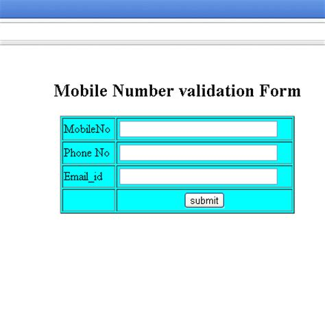 validation pattern for number in javascript mobile number validation form in javascript