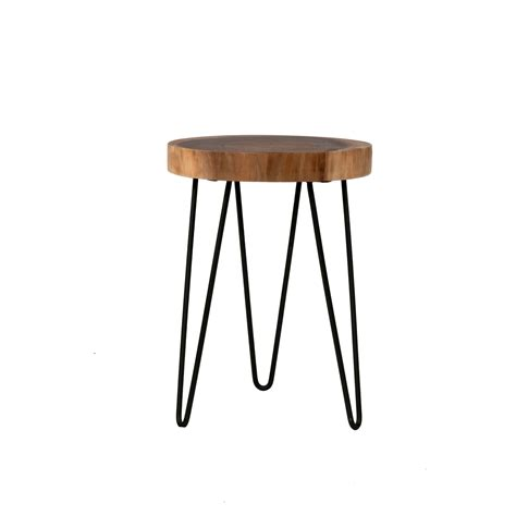 coffee table accent pieces east at main laredo brown teakwood round accent table on sale