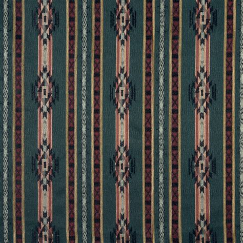 Style Upholstery Fabric by F380 Striped Southwestern Navajo Lodge Style Upholstery