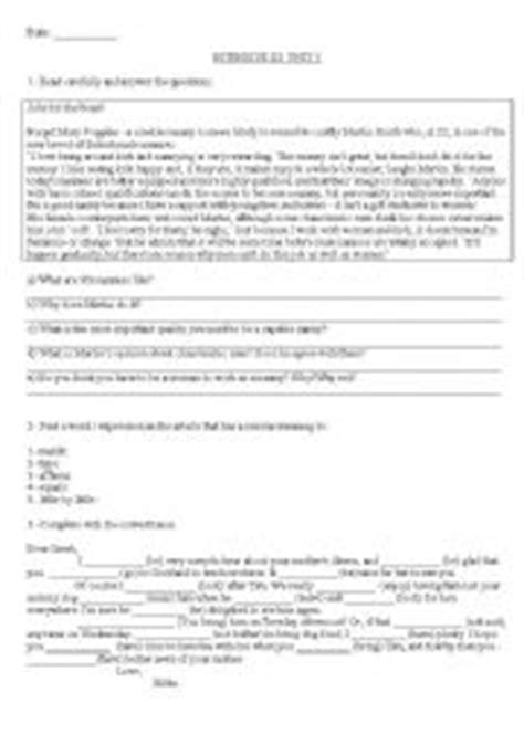 New English File - Intermediate: UNIT 5 test (Modelo