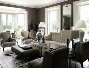 Gray tufted sofa eclectic living room 1st option