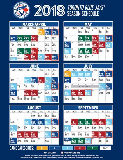 printable blue jays tickets blue jays reveal 2018 regular season schedule daily hive