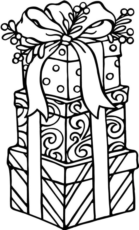 colouring pages christmas presents happy birthday cards click on pics to view more items