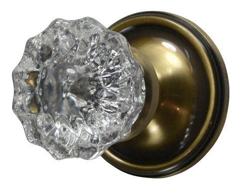 Glass Door Knobs by Antique Glass Door Knob Regency Fluted Style