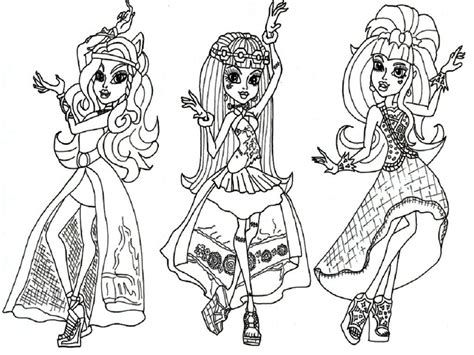 coloring pages for monster high dolls all monster high dolls coloring pages coloring home