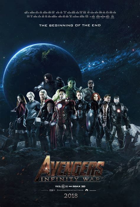 Plakat Infinity War infinity war poster fan made by tldesignn on