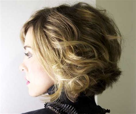 short haircuts for loose curly hair short loose curly bob hairstyles hair style ideas